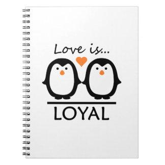 Penguin Love notebooks
