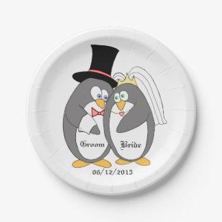 Penguin Love Paper Plate