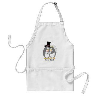 Penguin Love Personalized Apron