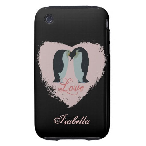 Penguin Love Personalized Case iPhone 3 Tough Cover