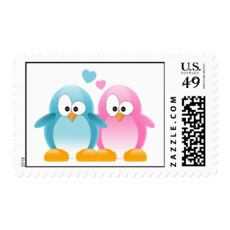 Penguin Love Postage Stamps