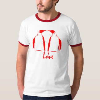 Penguin Love Red Kiss T-Shirt