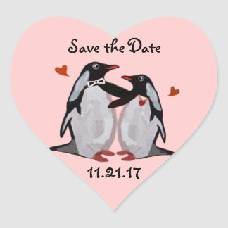 Penguin Love Save the Date Stickers