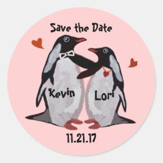 Penguin Love Save the DateStickers Sticker