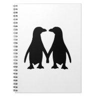 Penguin love spiral note books