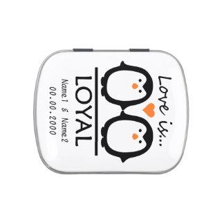 Penguin Love tins & jars Candy Tins
