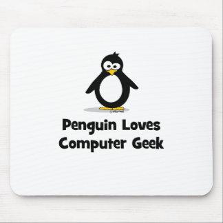 Penguin Loves Computer Geek Mousepads