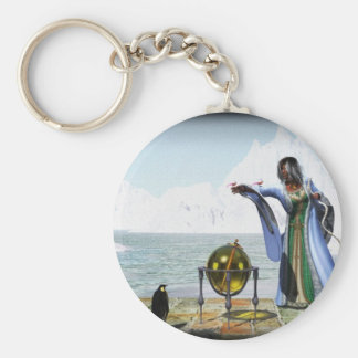 Penguin Magic and The Winter Witch Keychains