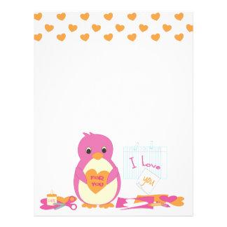 "Penguin Making Valentines 8.5"" X 11"" Flyer"