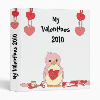 Penguin Making Valentines Binder
