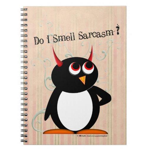 Penguin™ malvado divertido libreta espiral
