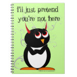 Penguin™ malvado divertido libretas