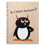 Penguin™ malvado divertido libro de apuntes