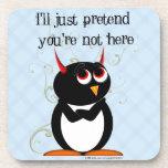 Penguin™ malvado finge posavasos de bebidas
