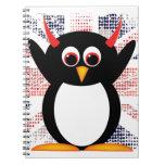 Penguin™ malvado Union Jack Cuadernos