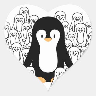 Penguin Mark Heart Sticker
