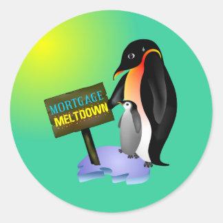 Penguin Meltdown Stickers