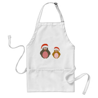 Penguin Merry Christmas Adult Apron