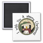 Penguin Merry Christmas T-shirts and Gifts Fridge Magnet