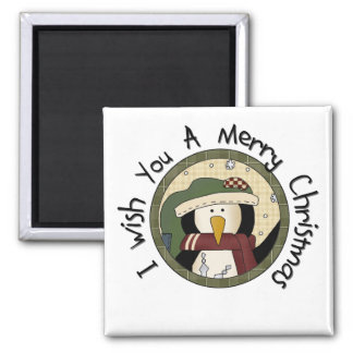 Penguin Merry Christmas T-shirts and Gifts Magnet