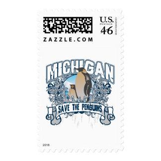 Penguin Michigan Stamp