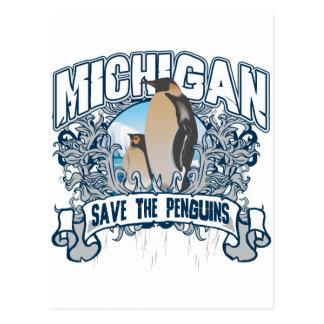 Penguin Michigan Postcard