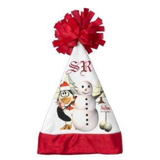 Penguin Monogram Christmas Hat