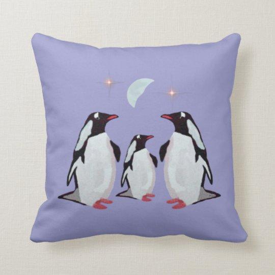 Penguin Moon American Mojo Pillow