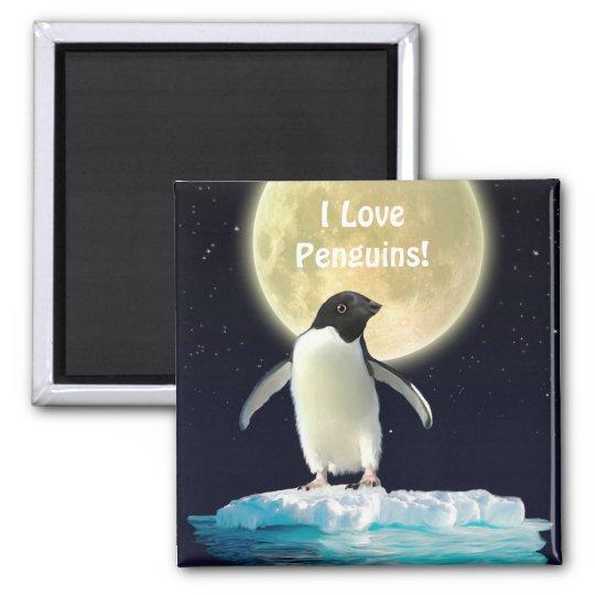 PENGUIN MOON Penguin Lover Art Magnet