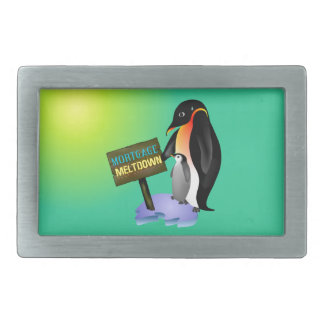 Penguin Mortgage Meltdown Belt Buckles