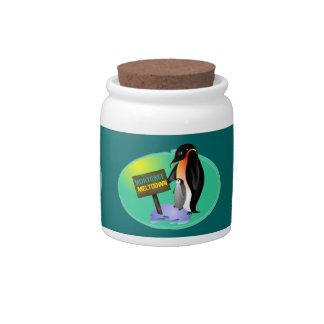 Penguin Mortgage Meltdown Candy Dish