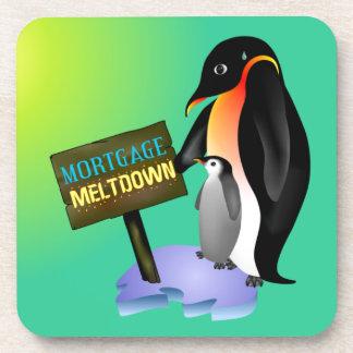 Penguin Mortgage Meltdown Coasters