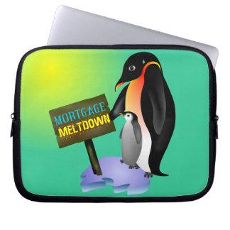 Penguin Mortgage Meltdown Laptop Sleeve