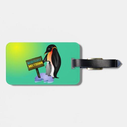 Penguin Mortgage Meltdown Luggage Tag