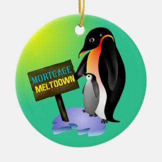 Penguin Mortgage Meltdown Christmas Ornament