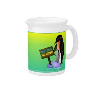 Penguin Mortgage Meltdown Drink Pitcher
