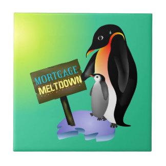 Penguin Mortgage Meltdown Ceramic Tiles