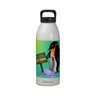Penguin Mortgage Meltdown Reusable Water Bottle