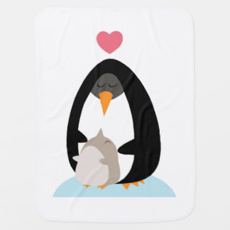 Penguin Mother and Baby blanket