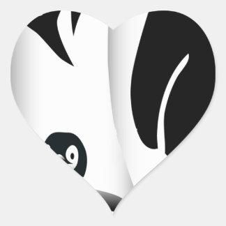 Penguin Mug Heart Sticker