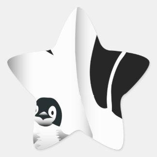Penguin Mug Star Sticker