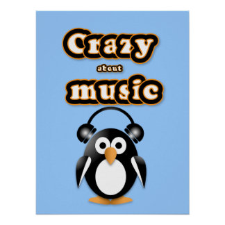 Penguin music fan poster