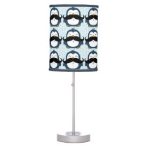 Penguin Mustache Trend Pattern Desk Lamp