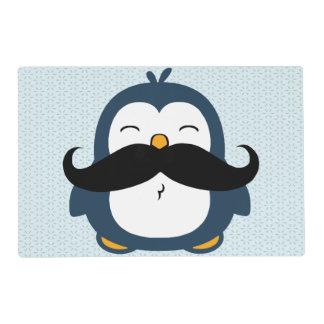 Penguin Mustache Trend Placemat