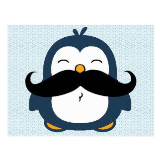 Penguin Mustache Trend Postcard