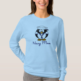 Penguin Navy Mom T-Shirt