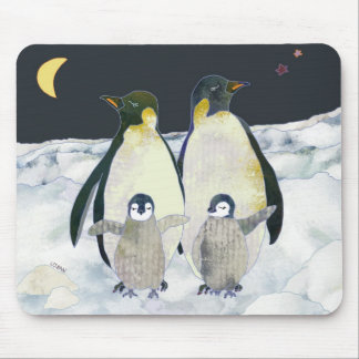 Penguin Night in the Antarctic Mouse Pad