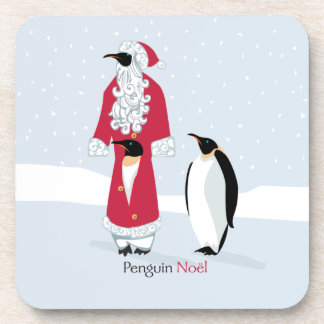 Penguin Noel Beverage Coaster