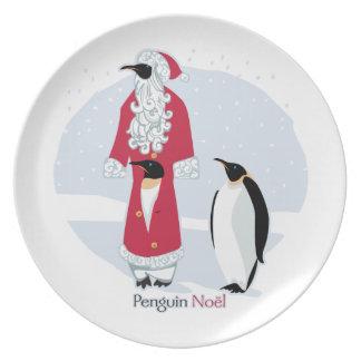 Penguin Noel Dinner Plate