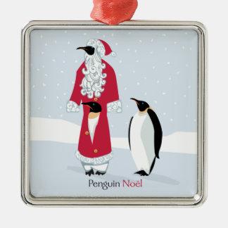 Penguin Noel Metal Ornament